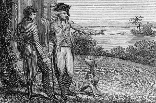 Not only the father of the U.S., Washington is also the father of the American foxhound.  He carefully bred and maintained his dogs, listing more than 30 hounds in his journals, including Drunkard, Tipler and Tipsy.