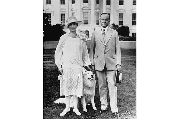 Coolidge and his wife Grace kept an entire menagerie at their White House. In addition to a pair of white collies, Rob Roy and Prudence Prim, they kept numerous other dogs as well as raccoons, a donkey, a bobcat, canaries, a goose and a mockingbird.
