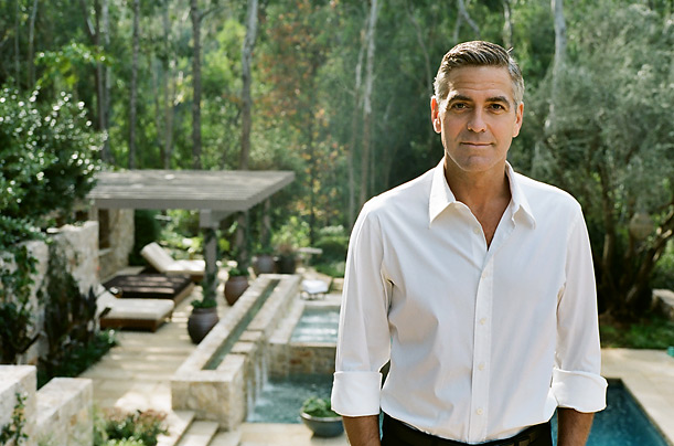 George Clooney Actor Photographs Pictures Movies Director Producers Cool Style Fashion Motorcycle Basketball Player