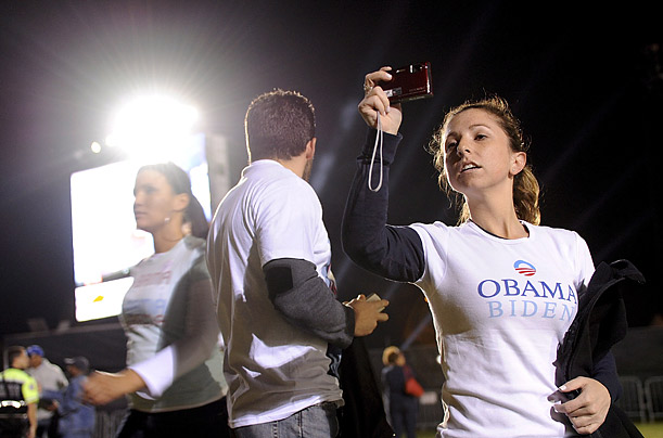Barack Obama's Victory Celebration in Grant Park Hundreds of thousands
