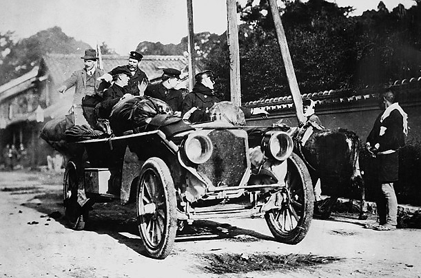 The Great 1908 Paris-to-New York Automobile Race July 30, 1908, an American automobile Thomas Flyer crossed the finish line traversed three continents 169 days. One hundred years later recreate Great Race