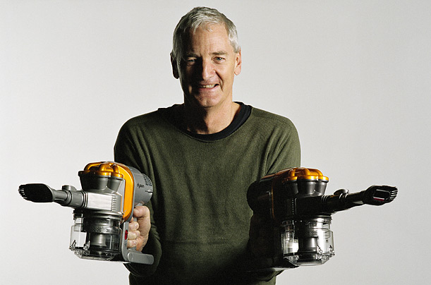 James Dyson is best known for his creation of a bagless vacuum cleaner