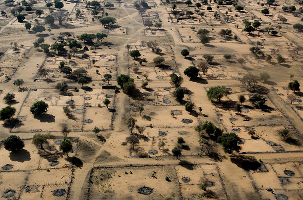 This village in northern Darfur was burned to the ground. The janjaweed has terrorized the region by cordoning off towns, then pillaging and burning them.
