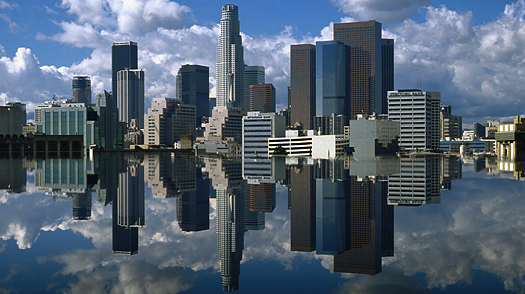 los angeles travel skyline