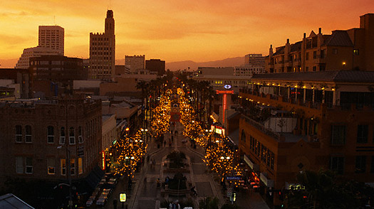 Third Street Promenade at Dusk, Santa Monica, California