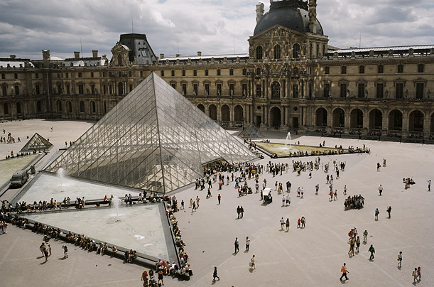 Architect I.M. Pei's glass pyramid has become an internationally recognized icon of the Parisian institution