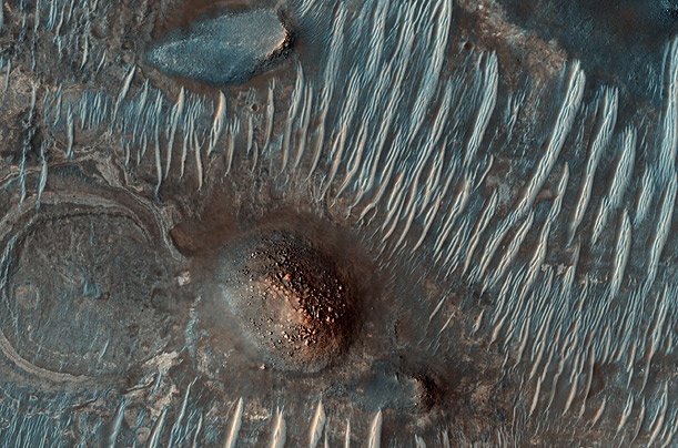 Patterns of MarsA high resolution camera aboard NASA's Mars Reconnaissance Orbiter captures the abstract beauty of the Martian landscape