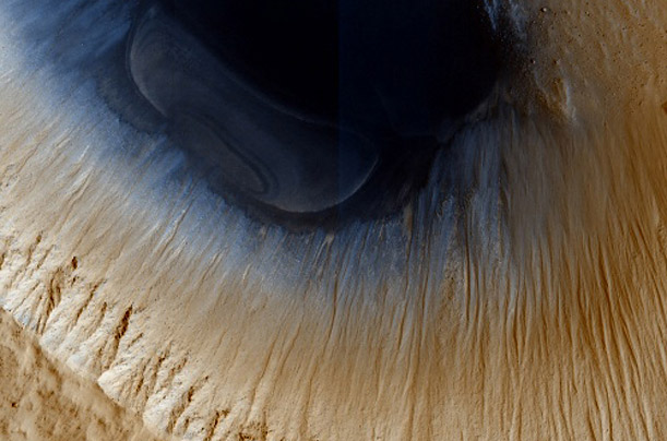 Patterns of Mars A high resolution camera aboard NASA's Mars Reconnaissance Orbiter captures the abstract beauty of the Martian landscape