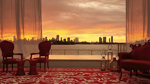 The Sunset Lounge at the Mondrian