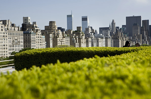 For this shot, Heinemann climbed to the rooftop sculpture garden atop the Metropolitan Museum of Art.