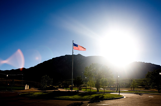 Cheyenne Mountain is the home of the North American Aerospace Defense Command (NORAD), in Colorado Springs.