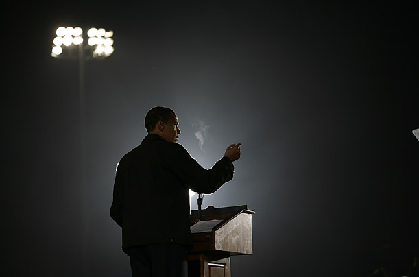 barrack obamas campaign speech essay Rhythm and rhetoric: this essay's aim is to analyze barack obama's inaugural address in his speech, obama cites other famous orators both directly and.