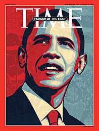 Copertina TIME Obama Presidente