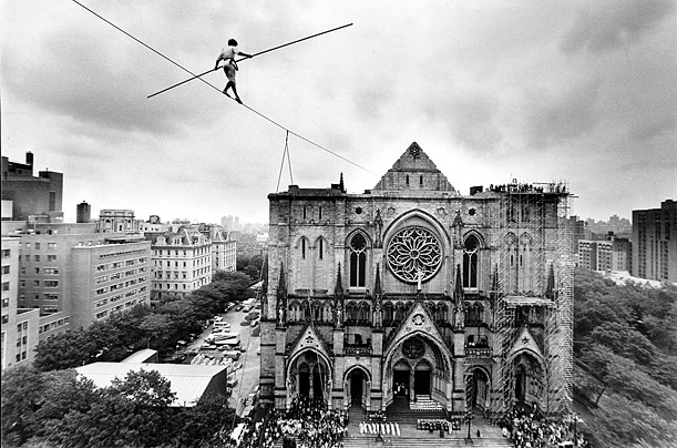 In 1982, Petit opened the dedication of the St. John The Divine Cathedral in New York City.