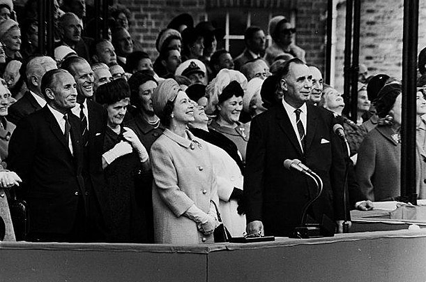 The ship's launch in 1967 was attended by Queen Elizabeth II.