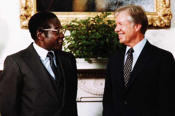 Mugabe's efforts to liberate Rhodesia from white rule received the backing of the United States and the United Kingdom.