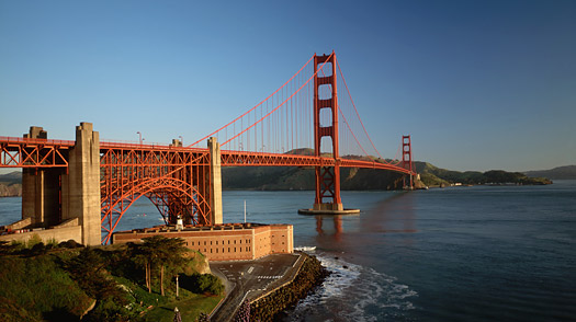 The Presidio and the Golden Gate Bridge.