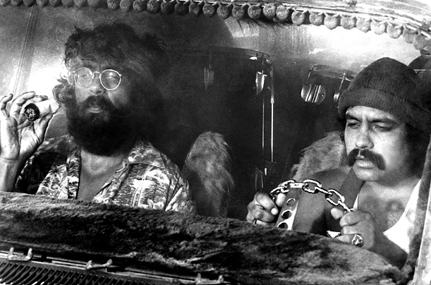The godfathers of pot cinema, Cheech Marin (right) and Tommy Chong known better, of course, by their nom de cinema , Cheech and Chong ultimately made 10 movies together in which marijuana somehow plays a role.