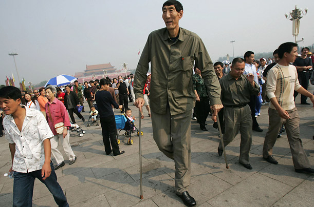 The Tale of Bao Xishun, The World's Tallest Man  A herdsman from Inner Mongolia travels a long way after being placed in the Guinness Book of World Records
