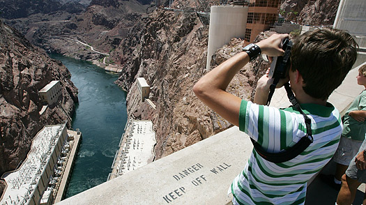 Hoover Dam at the Lake Mead National recreation Area, Nevada.