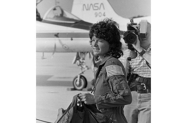 A physicist by training, Ride was a part of the 1983 Challenger crew, a five-person team that deployed communications satellites and conducted pharmaceutical experiments. Ride was the first to use the Space Shuttle's robot arm in space.