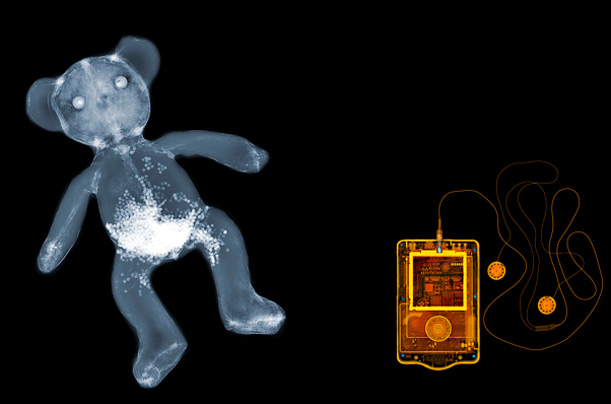 A teddy and an MP3 player.