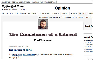 paul krugman the conscious of a liberal [the conscience of a liberal by paul krugman ww norton, 2007 296 pages]like him or not, paul krugman is an economic theorist of distinction, a winner of the john bates clark medal, and often rumored to be in the running for the nobel prize.