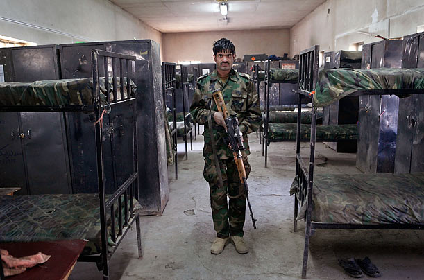 Barracks  As of August 2009, the Afghan army consisted of little more than 100,000 troops.