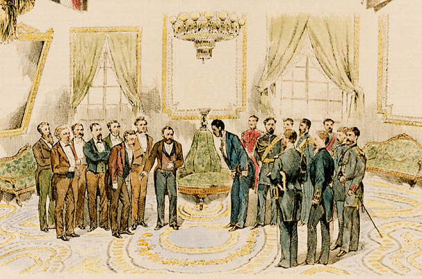 U.S. Grant and the King of the Sandwich Islands  Using the modern definition, the very first state dinner took place in 1874, when President Ulysses S.