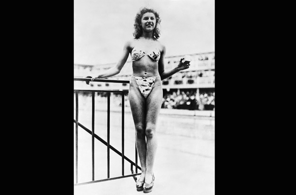Micheline Bernardini, a nude dancer, was the first woman ever to wear a bikini