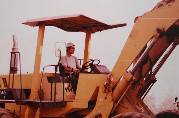 As the eldest son of Osama bin Laden and his first wife Najwa, Abdullah holds the most honored position of all his siblings. He is seen here working on his father's backhoe in Sudan in 1993. He runs a small business and shuns publicity.