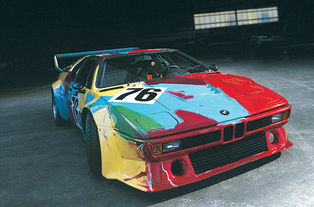 BMW's Mobile Art cars Warhol, Stella, Lichtenstein and Rauschenberg — will be displayed at LA's County Museum of Art in February