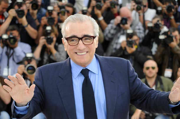 American director Martin Scorsese poses during the photocall of Michael Powell's <span style='font-style: italic'>The Red Shoes</span>.