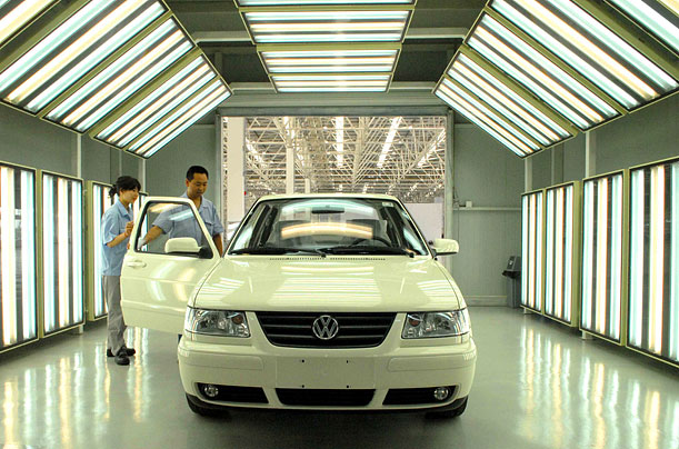 Volkswagen's first joint venture in China — Shanghai Volkswagen Automotive