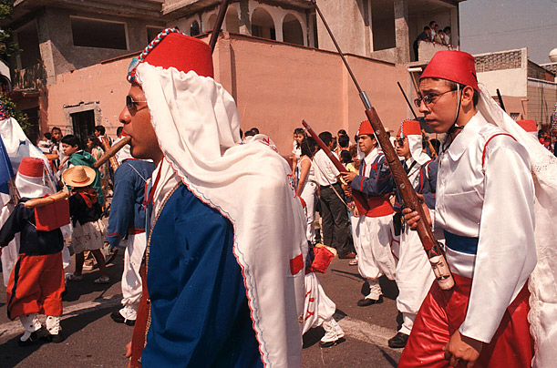This 1999 photo is of a parade in Mexico City.