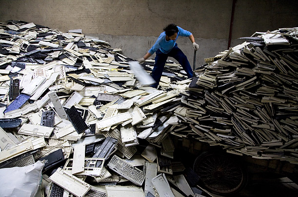 The city of Guiyu is home to 5,500 businesses devoted to processing discarded electronics, known as e-waste. According to local websites, the region dismantles 1.5 million pounds of junked computers, cell phones and other devices a year.