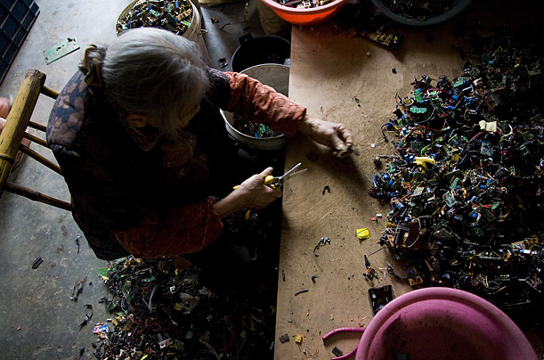 Guiyu — and places like it in India and Africa — fluorish because it is far cheaper to break down e-waste there than it is in the developing world, where companies must follow strict guidelines.
