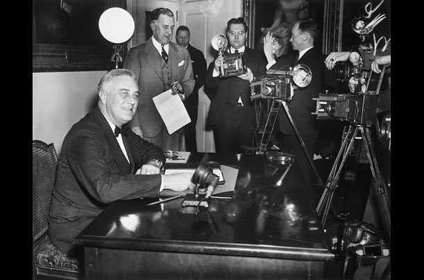 Roosevelt routinely allowed members of the press into the White House. He presided over two press conferences almost every week