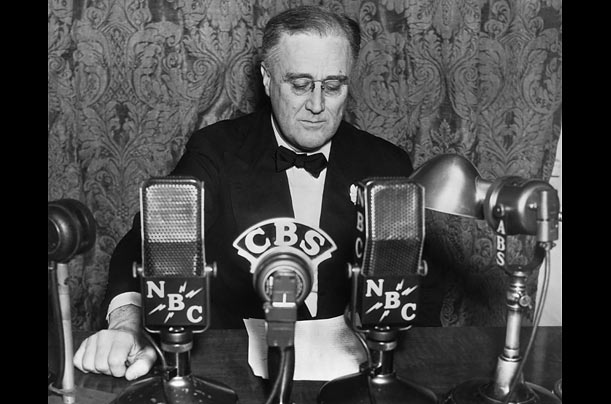 Photography complemented Roosevelt's outreach to the nation through the radio. As Americans listened to his speeches in their living rooms