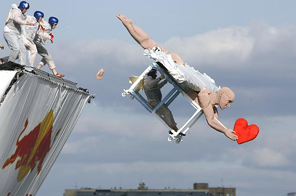 Flugtag 2009 was held in Russia on the outskirts of Moscow. Entries are judged on