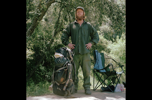 A former carpet cleaner, Dave, 39, routinely spends months at a time in the mountains around the fork, living on beans and coffee