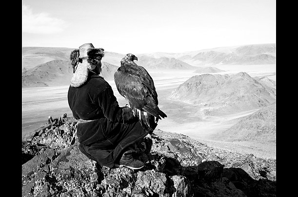Men have used birds of prey to hunt in western Mongolia since the 15th century.