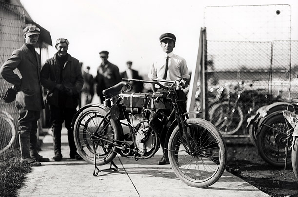 After experimenting with a series of prototypes, 23-year old William S. Harley and 22-year old Arthur Davidson built their first bike for sale to the public in 1903.