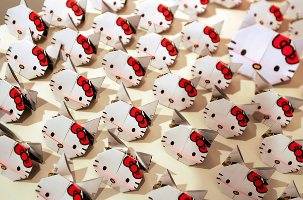 Yuko Yamaguchi, who has designed Hello Kitty for 29 of the character's 35 years, says Kitty did not gain in popularity until the mid-1980s.