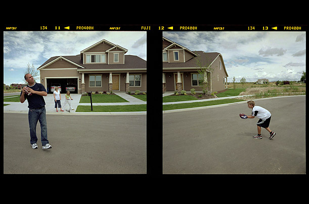 Vinny and Karla Trovato, along with their kids, Steven and Ashley enjoy their new home, in a subdivision north of Boise,