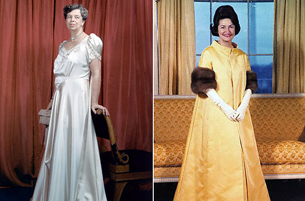 Gowns of Eleanor Roosevelt and Lady Bird Johnson