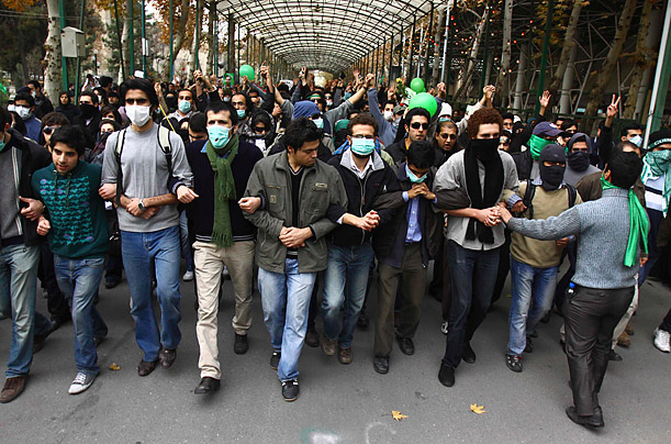 Witnesses say that thousands of student protesters gathered at universities in Tehran and other cities across Iran to demonstrate against government policies.