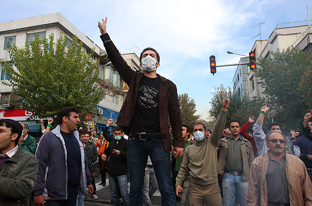 Counter Protest  On the day that Iranians normally commemorate the storming of the U.S. embassy in Tehran on November 4, 1989, anti-government