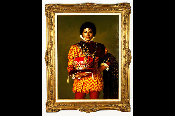 A framed portrait of Jackson by the artist Norman Oak is one of the items up for sale at the auction, which will run from April 22 to 25.