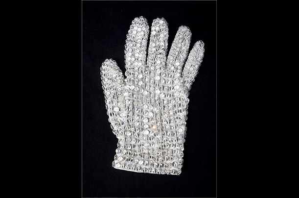 Jackson's iconic glove, covered in Swarovski crystals is estimated at $10,000 - $15,000.
